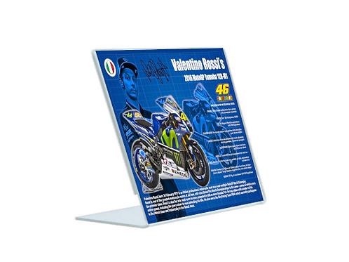 Valentino Rossi YZR M1 - A5 Acrylic Blueprint