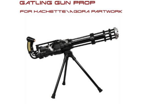 T-800 Near Scale Gatling Gun - Fits Hachette\Agora Partworks