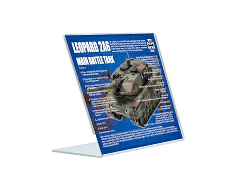 Leopard 2A6 - A5 Acrylic Blueprint