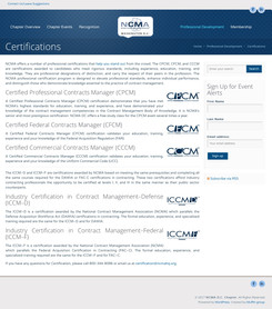 Old Certification Page