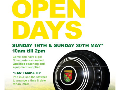Open Days Sunday 16th & Sunday 30th May 2021 10am till 2pm.