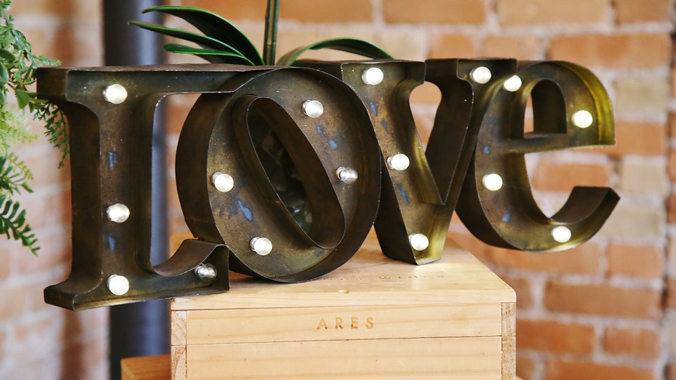 Rustic Light Up LOVE Sign