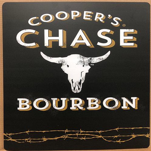 Black Cooper's Chase Bourbon Bar Sign