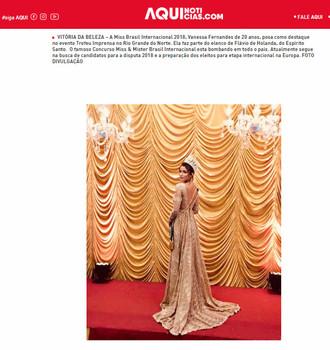 Miss Brasil Internacional participa do evento Troféu Imprensa e é noticia na mídia