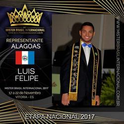 Mister Alagoas Internacional 2017, Luis Felipe