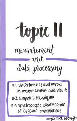 Topic 11 Measurement and Data Processing Revision Booklet