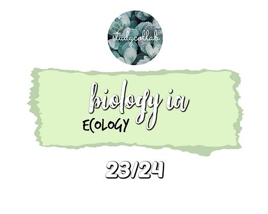 IB BIOLOGY SL IA (23/24)