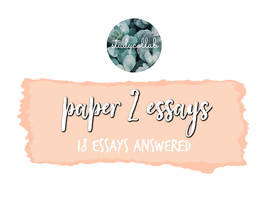 Chinese B SL - Past Paper Essays (2013-18)