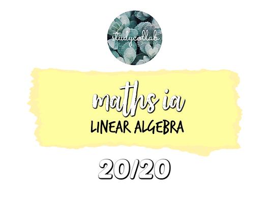 (20/20) IB Maths SL Internal Assessment