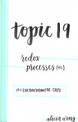 Topic 19 Redox Processes HL Revision Booklet