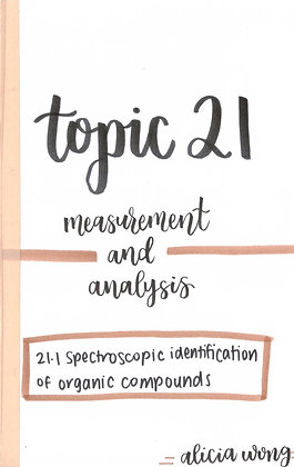Topic 21 Measurement and Analysis HL Revision Booklet