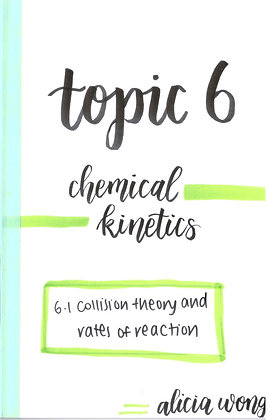 Topic 6 Chemical Kinetics Revision Booklet