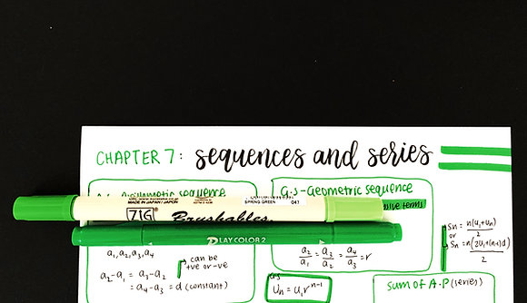 Topic 7 - Sequences and Series (One Page Summary)
