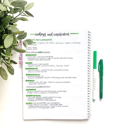 Option C - Ecology and Conservation Syllabus Notes (WATERMARK)