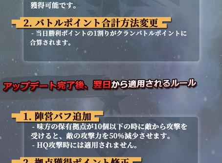 【クラン戦正規シーズンルール変更のお知らせ】