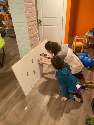 The making of sensory board