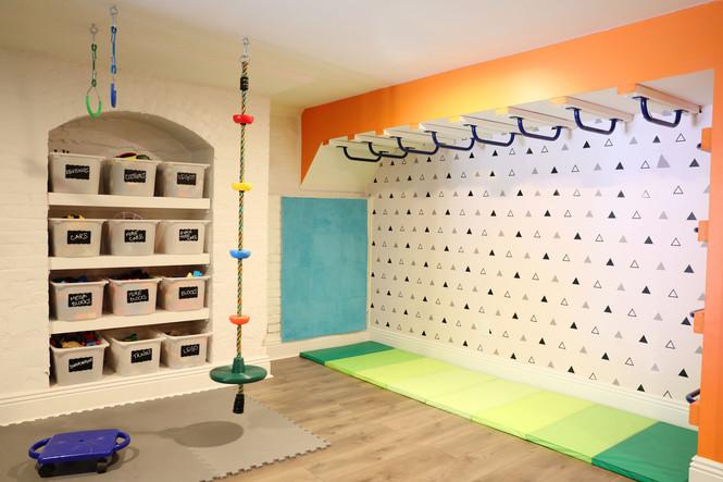 Sensory gym in basement