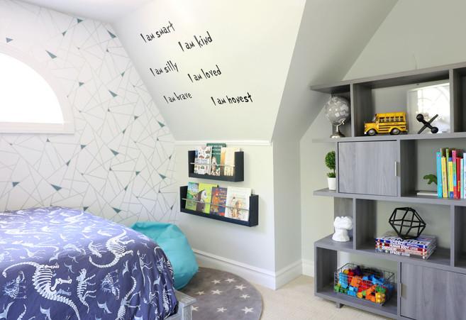 kids bedroom reading nook
