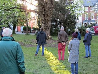 AGM discussing recent arboriculture work