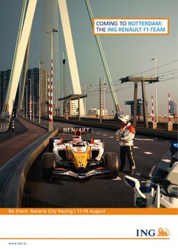 ING F1 SPONSORSHIP PRINT AD
