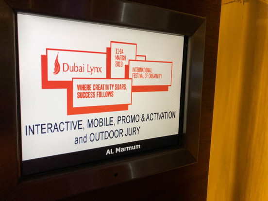 JUDGING AT DUBAI LYNX 2018