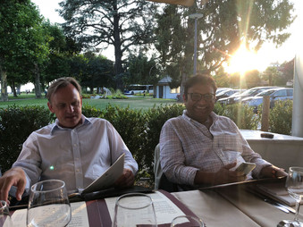 GLEN LOMAS AND KEDAR KARIPPAIL TRYING TO FIND THE DISH OF THE DAY I LAUSANNE