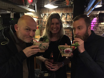 UNDERESTIMATING THE SIZE OF A MOJITO WITH SOPHIE VAN PELT AND STEPHEN JOSS IN BOGOTA AFTER THE HEINEKEN SHOOT