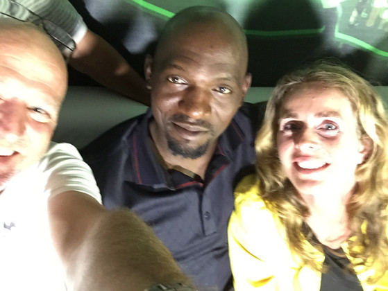 WITH FOOTBALL LEGEND GEREMI AND ELS DIJKHUIZEN IN LAGOS, SHOOTING ANOTHER HEINEKEN CHAMPIONS LEAGUE STORY
