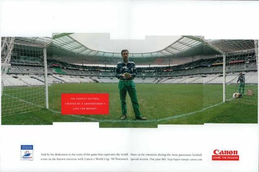 CANON WORLD CUP PRINT AD