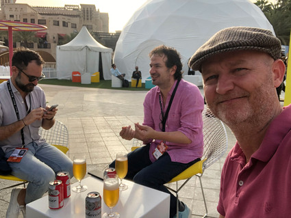TAKING A BREATHER AT DUBAI LYNX WITH FELLOW JUDGES