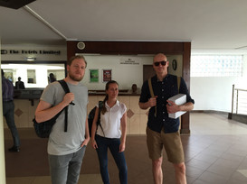 WITH WYBE SALLOWS, RENATE EBBENHORST AND ALEX HERWIG SHOOTING FOR HEINEKEN IN LAGOS