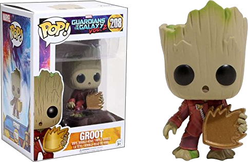 Funko POP! Marvel - Guardians of the Galaxy vol. 2 208 - Young Groot with Shield
