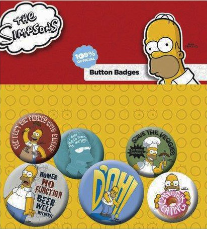 SIMPSONS FAMILY FACES PINS