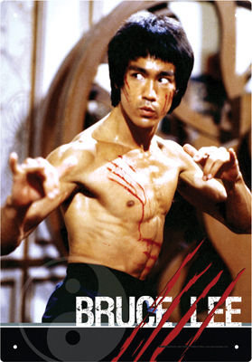 BRUCE LEE FIGHT TIN SIGN