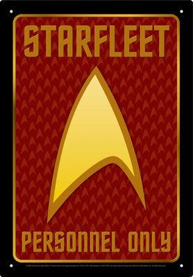 STAR TREK PERSONNEL TIN SIGN