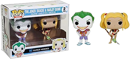 Funko POP! HEROES - JOKER (BEACH) & HARLEY QUINN 2 PACK