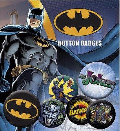 BATMAN LOGO AND JOKER PINS