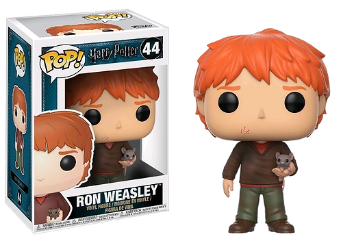FUNKO POP HARRY POTTER: 44 RON WEASLEY with Scabbers