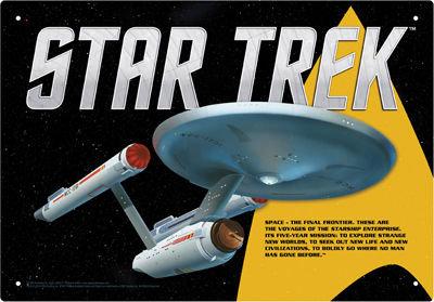 STAR TREK ENTERPRISE TIN SIGN