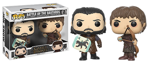 FUNKO  POP! - GAME of THRONES - Jon Snow And Ramsay Bolton - 2 PACK