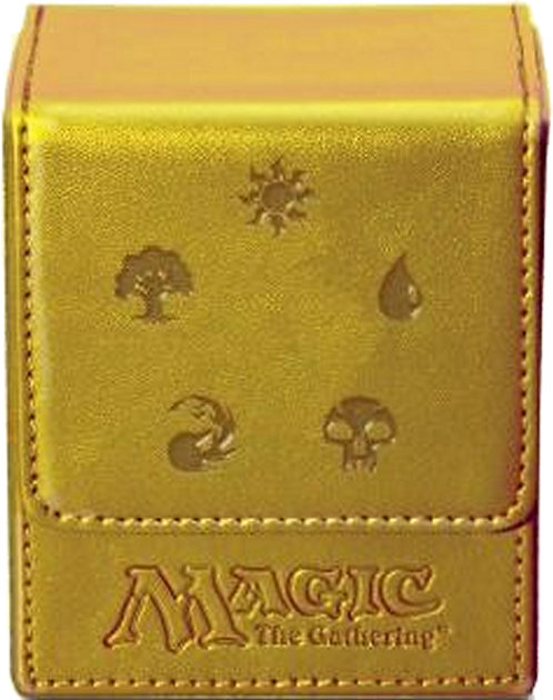 Ultra PRO Deck Box Flip - Magic Mana - Gold
