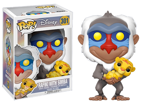 Funko - POP! Disney 301: The Lion King- Rafiki with Simba