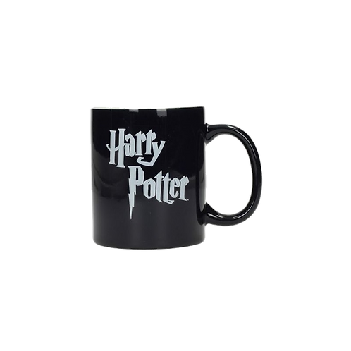HARRY POTTER LOGO BLACK AND WHITE CERAMIC MUG HARRY POTTER