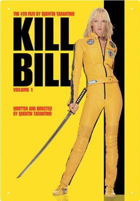 KILL BILL VOL1 TIN SIGN