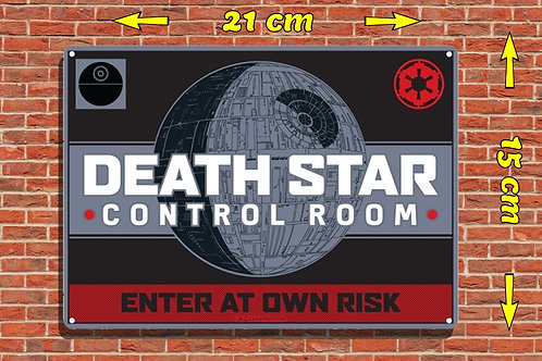 SW DEATH STAR TIN SIGN