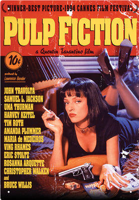 PULP FICTION ONE SHEET TIN SIGN