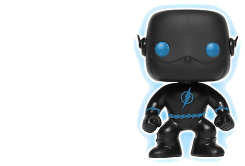 Funko POP! Justice League: 10 The Flash Silhouette Glow in the Dark