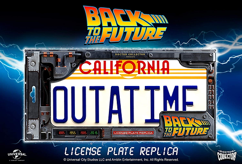 BTTF OUTATIME LICENCE PLATE