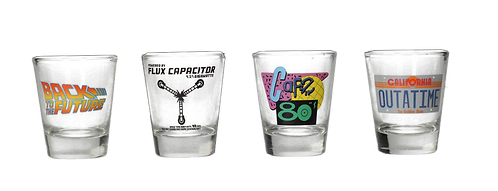 BTTF SHOT GLASSES SET 4pz