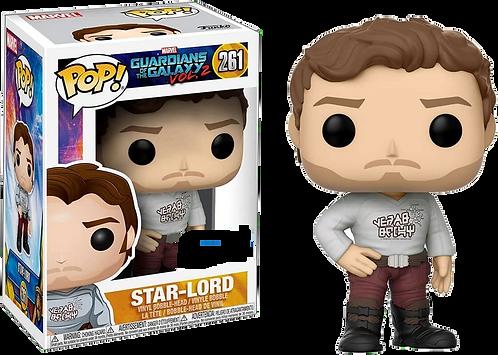 Funko POP! Guardians of the Galaxy 2: 261 Star-Lord w/ Gear Shift Shirt